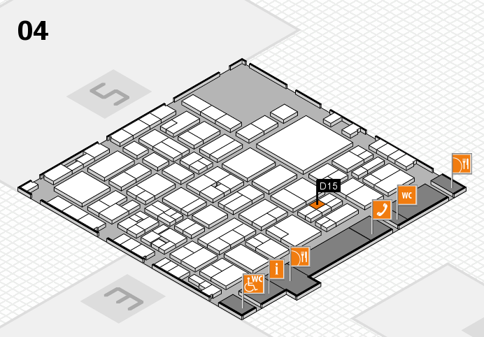 EuroShop 2017 hall map (Hall 4): stand D15