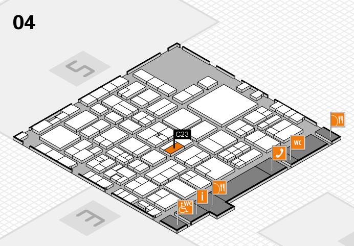 EuroShop 2017 hall map (Hall 4): stand C23