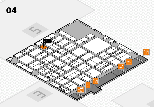 EuroShop 2017 hall map (Hall 4): stand C55