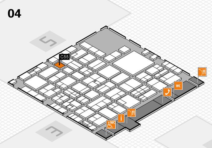 EuroShop 2017 hall map (Hall 4): stand C55