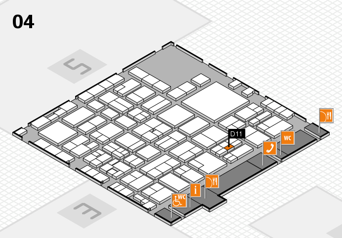 EuroShop 2017 hall map (Hall 4): stand D11