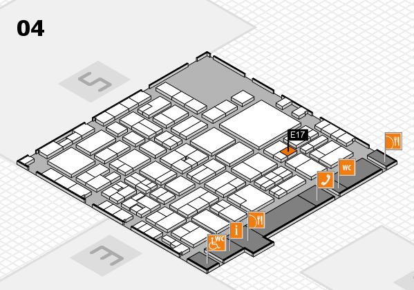 EuroShop 2017 hall map (Hall 4): stand E17