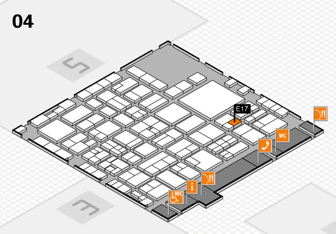 EuroShop 2017 hall map (Hall 4): stand E17