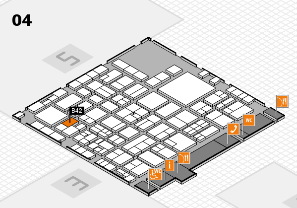 EuroShop 2017 hall map (Hall 4): stand B42