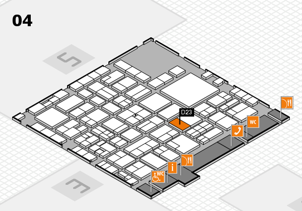 EuroShop 2017 hall map (Hall 4): stand D23