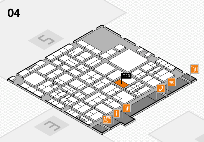 EuroShop 2017 hall map (Hall 4): stand D23