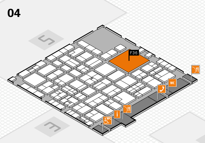 EuroShop 2017 hall map (Hall 4): stand F36