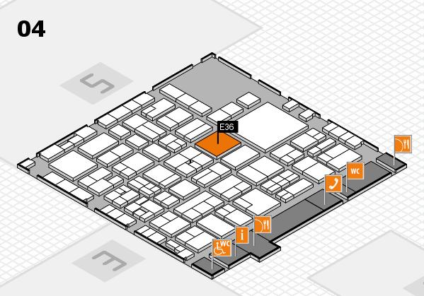 EuroShop 2017 hall map (Hall 4): stand E36
