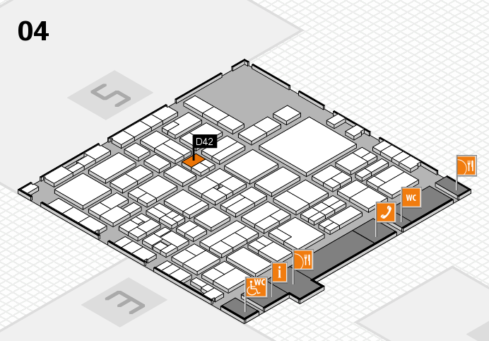 EuroShop 2017 hall map (Hall 4): stand D42