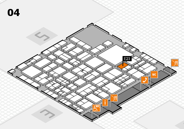 EuroShop 2017 hall map (Hall 4): stand E23