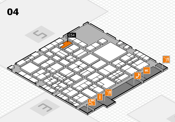 EuroShop 2017 hall map (Hall 4): stand E54