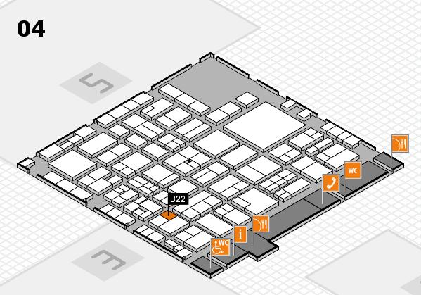 EuroShop 2017 hall map (Hall 4): stand B22