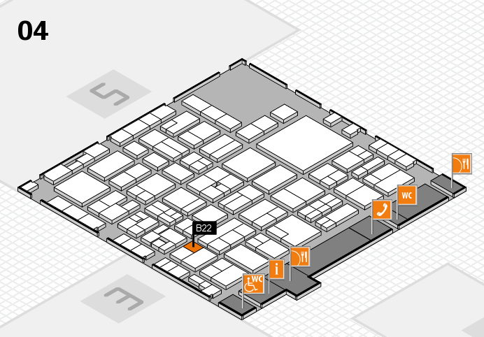 EuroShop 2017 hall map (Hall 4): stand B22