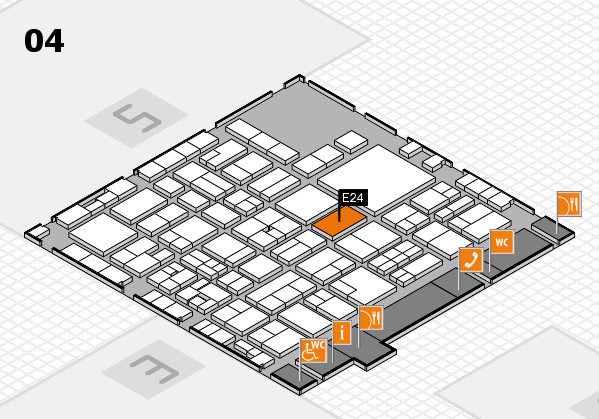 EuroShop 2017 hall map (Hall 4): stand E24
