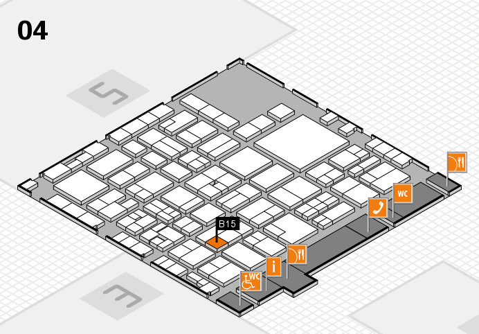 EuroShop 2017 hall map (Hall 4): stand B15