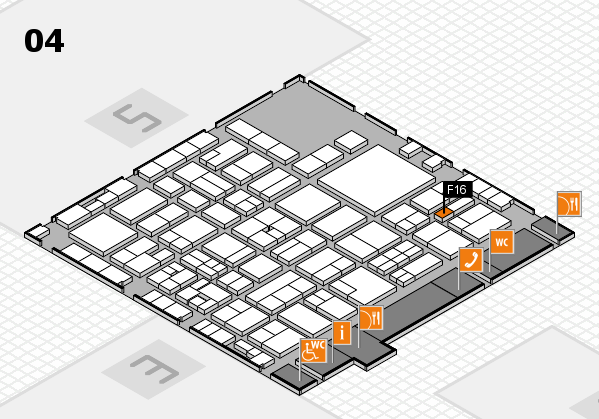 EuroShop 2017 hall map (Hall 4): stand F16