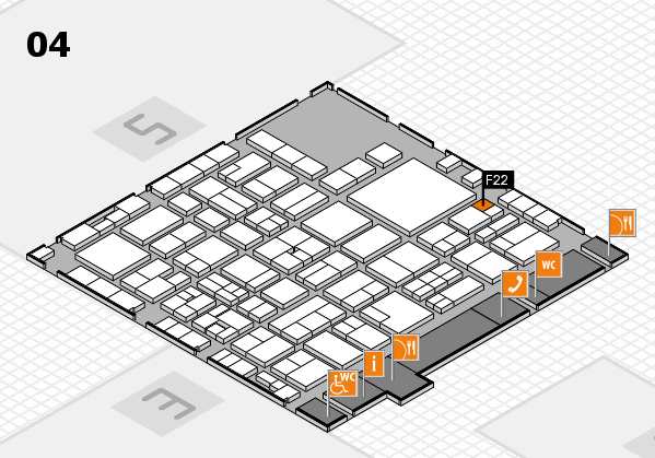 EuroShop 2017 hall map (Hall 4): stand F22