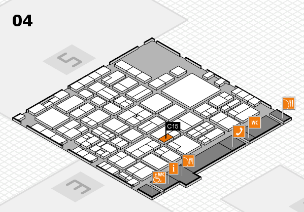 EuroShop 2017 hall map (Hall 4): stand C15