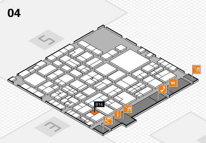 EuroShop 2017 hall map (Hall 4): stand B14
