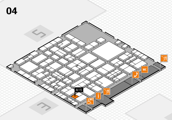 EuroShop 2017 hall map (Hall 4): stand A15