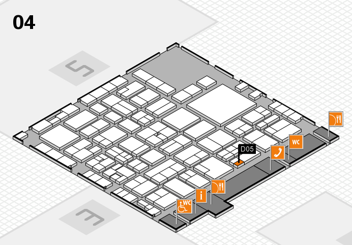 EuroShop 2017 hall map (Hall 4): stand D05