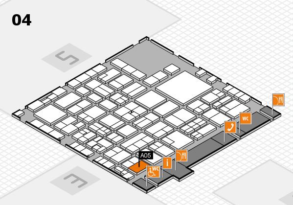 EuroShop 2017 hall map (Hall 4): stand A05