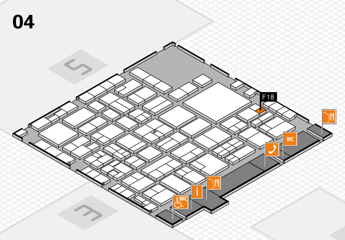 EuroShop 2017 hall map (Hall 4): stand F18