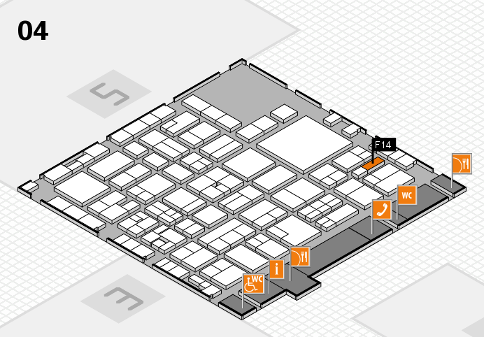 EuroShop 2017 hall map (Hall 4): stand F14