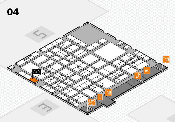 EuroShop 2017 hall map (Hall 4): stand A40