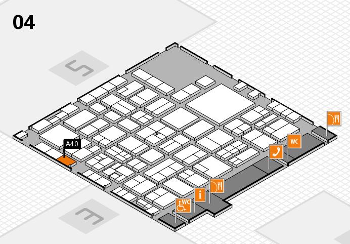 EuroShop 2017 hall map (Hall 4): stand A40