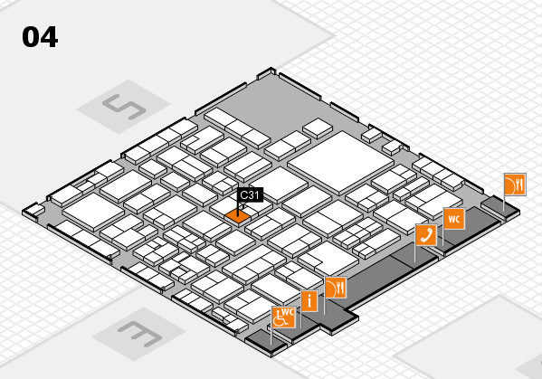 EuroShop 2017 hall map (Hall 4): stand C31