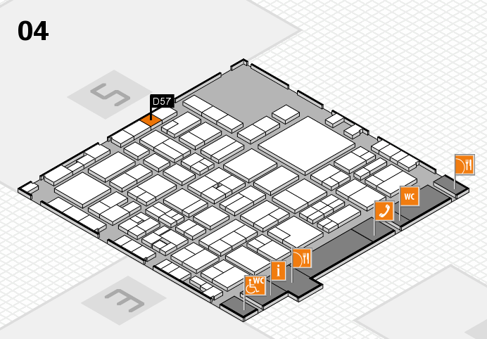 EuroShop 2017 hall map (Hall 4): stand D57