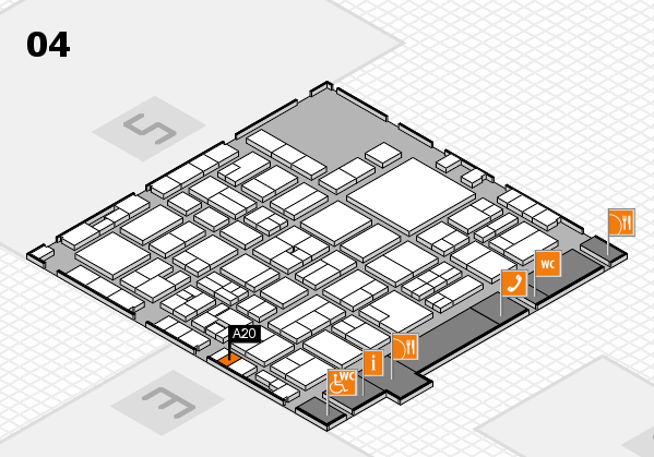 EuroShop 2017 hall map (Hall 4): stand A20