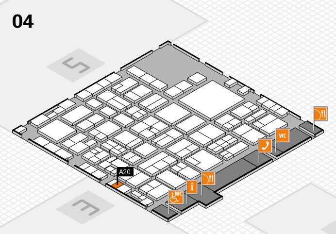 EuroShop 2017 hall map (Hall 4): stand A20