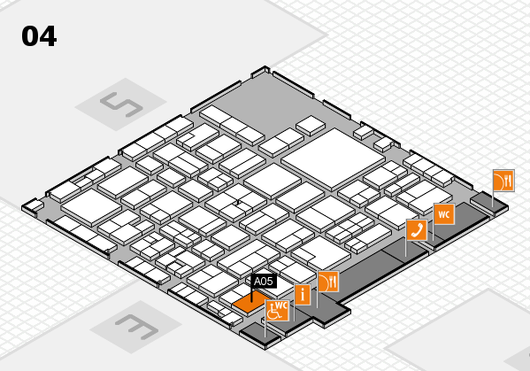 EuroShop 2017 hall map (Hall 4): stand A05