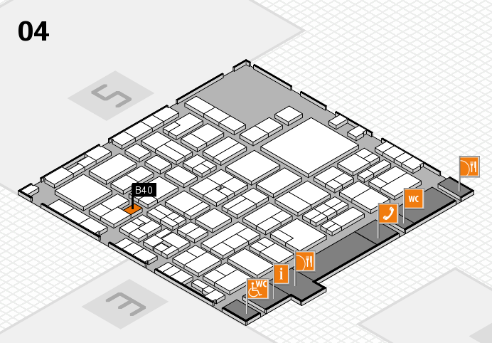EuroShop 2017 hall map (Hall 4): stand B40