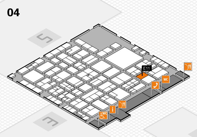 EuroShop 2017 hall map (Hall 4): stand E11