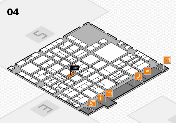 EuroShop 2017 hall map (Hall 4): stand C32