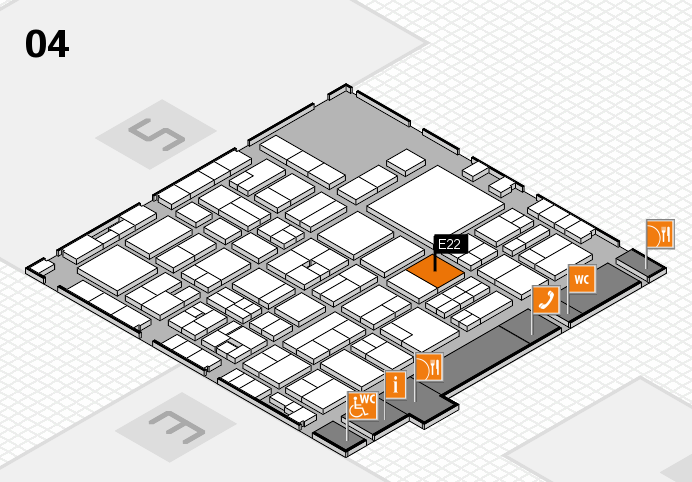 EuroShop 2017 hall map (Hall 4): stand E22