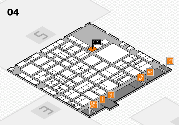 EuroShop 2017 hall map (Hall 4): stand E39