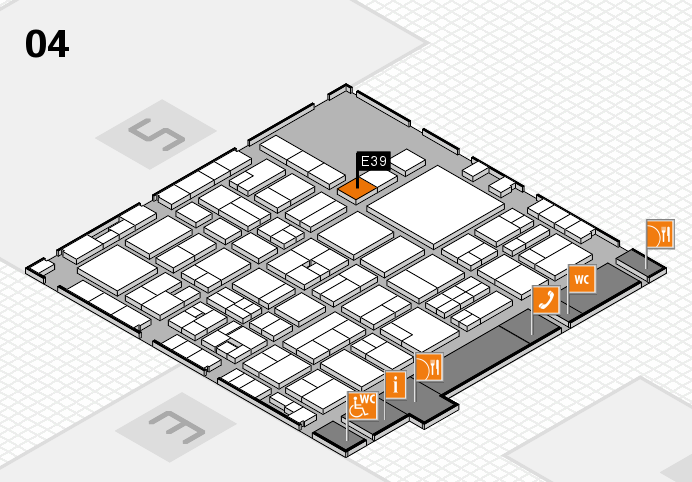 EuroShop 2017 hall map (Hall 4): stand E39