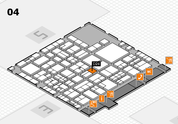EuroShop 2017 hall map (Hall 4): stand D24