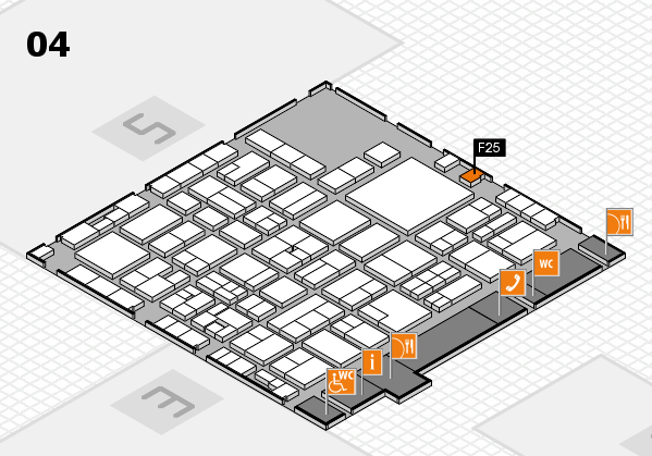 EuroShop 2017 hall map (Hall 4): stand F25