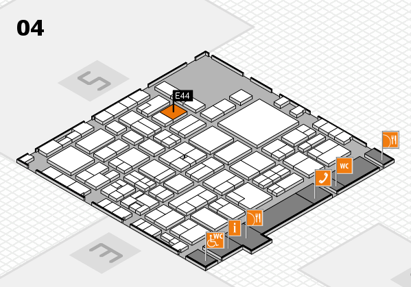 EuroShop 2017 hall map (Hall 4): stand E44