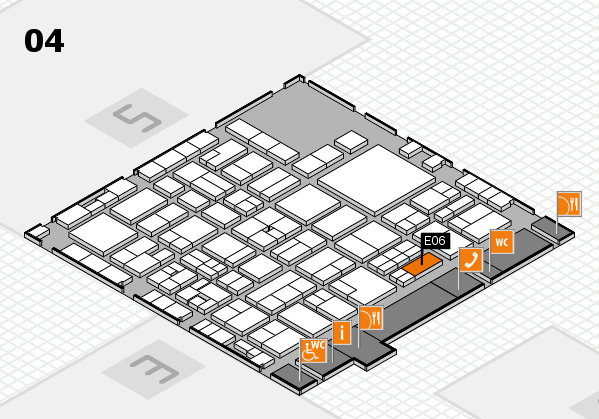 EuroShop 2017 hall map (Hall 4): stand E06