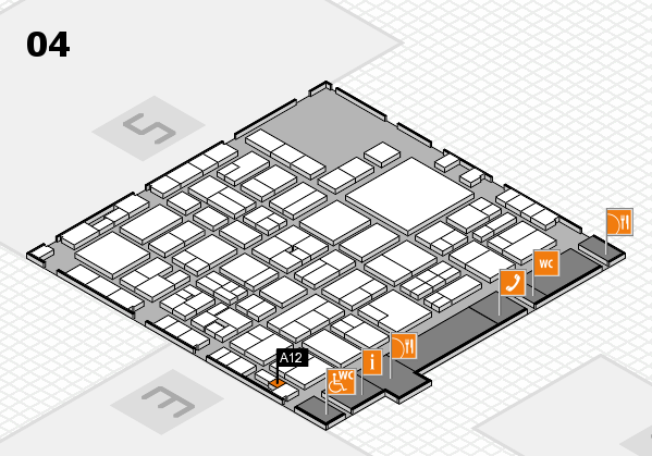 EuroShop 2017 hall map (Hall 4): stand A12
