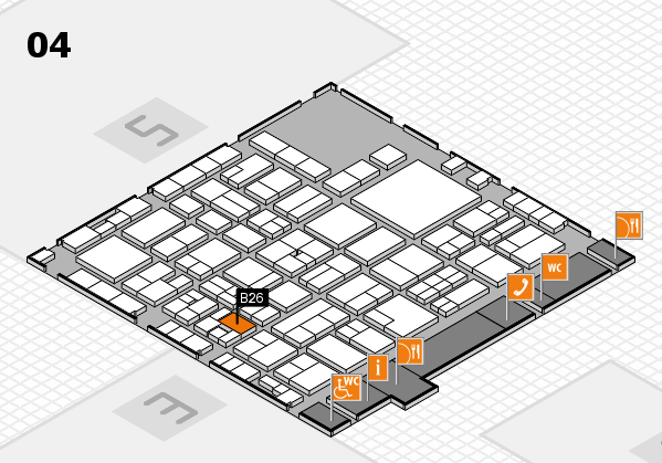 EuroShop 2017 hall map (Hall 4): stand B26