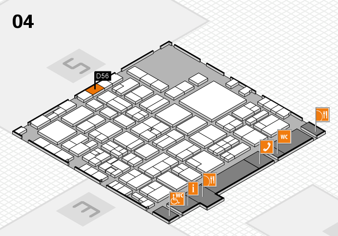 EuroShop 2017 hall map (Hall 4): stand D56