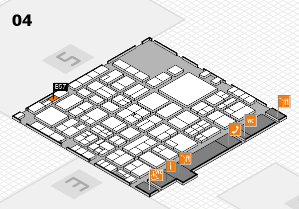 EuroShop 2017 hall map (Hall 4): stand B57