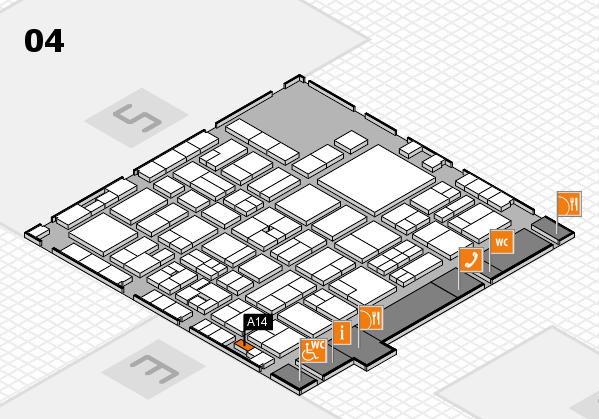 EuroShop 2017 hall map (Hall 4): stand A14